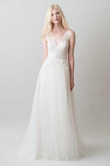 Jenny Yoo Savannah Lace Bridal Gown Wedding Dress Ivory