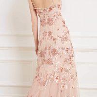 Needle & Thread Valentina Sequin Maxi Gown Blush Pink