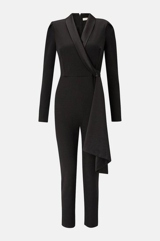 Long Sleeve Tux Jumpsuit