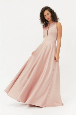 Coast Satin Maxi Tulle Underskirt Dress Pale Pink