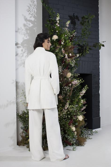 French Connection Amato Bridal Tux Tailored Wedding Suit Jacket Summer White
