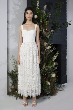 french connection bridal eliza lace maxi dress