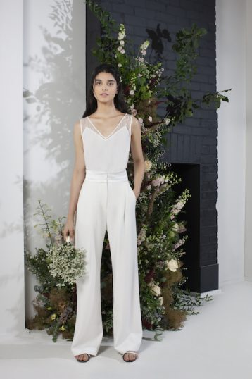 French Connection Amato Bridal Tux Wedding Suit Trousers Summer White