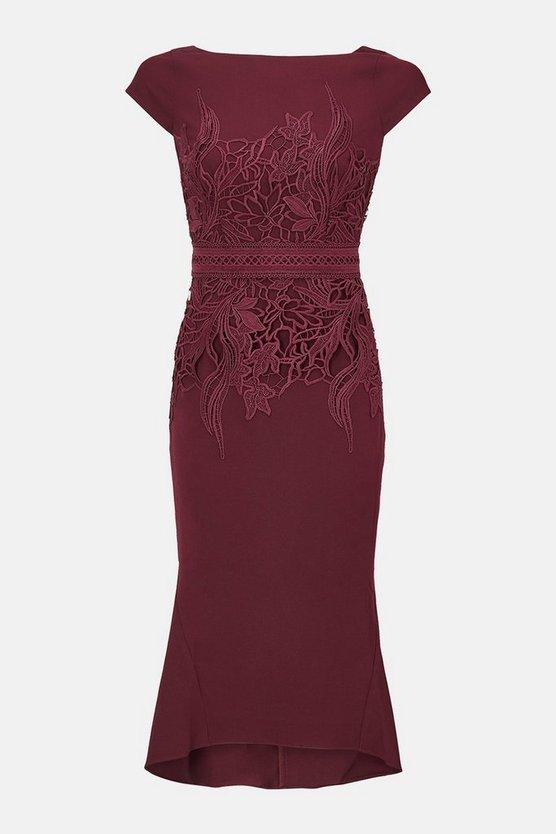 Lace Waist Shift Dress