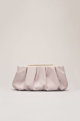 Phase Eight Sonja Soft Satin Clutch, Taupe