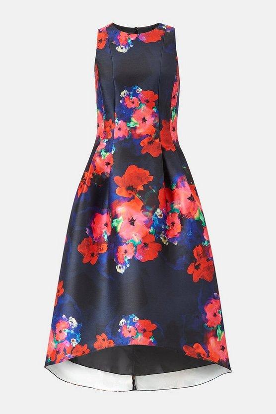 Twill Full Midi Dress