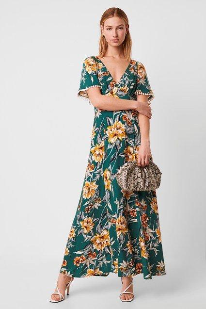 Claribel Floral V Neck Maxi Dress, £125