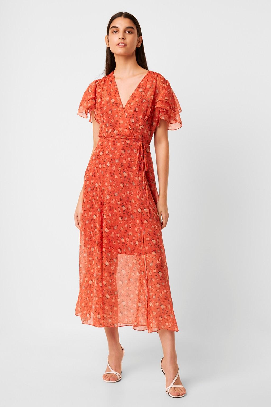 Esi Crinkle Midi Tea Dress