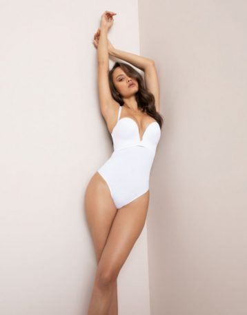 Agent Provocateur Dion High Waisted Sculpting Thong White