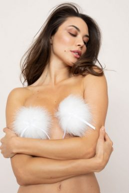 Agent Provocateur Icaris Feather Pasties White