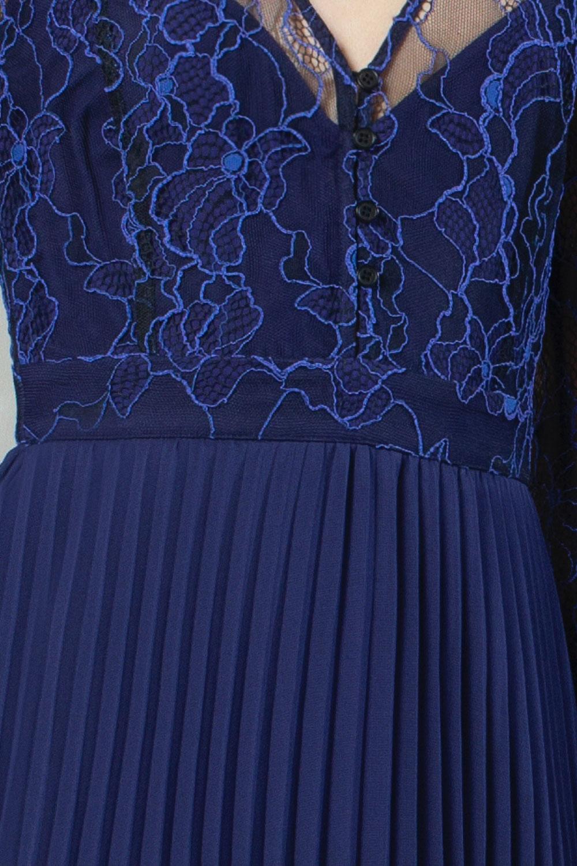 bikita lace mix handkerchief hem dress
