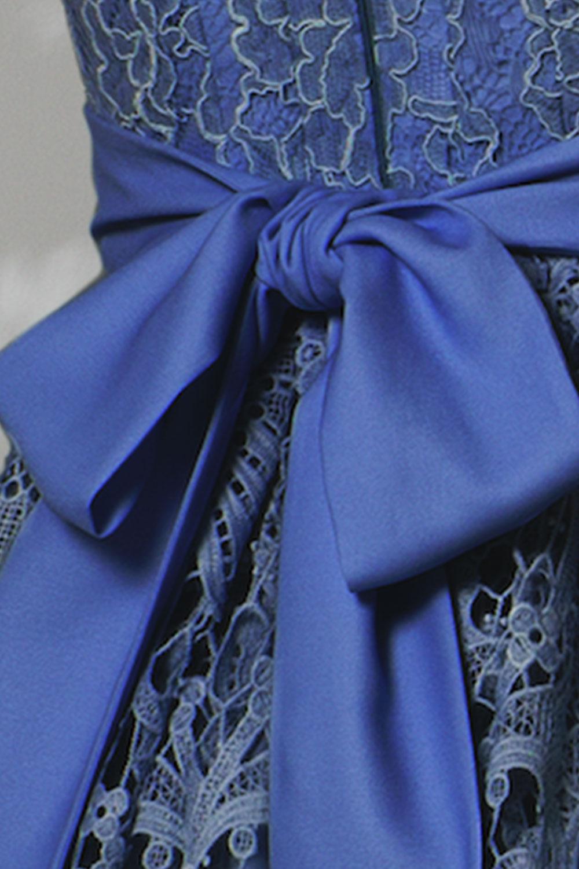 elsa lace midi bridesmaid dress
