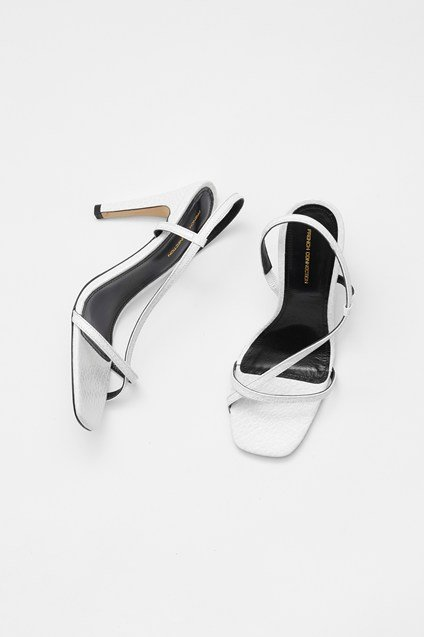 Mock Croc Wrap Around Leather Sandals Roll over image to zoom New Arrival Mock Croc Wrap Around Leather Sandals white