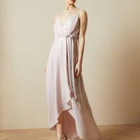Ted Baker NUALLA Waterfall wrap maxi dress Light Pink Blush