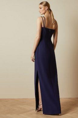 Ted Baker SANNSA Asymmetric strap maxi dress Navy Blue
