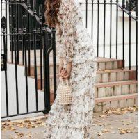 Anne Louise Boutique Papillon Tiered Floral Dres White Multi