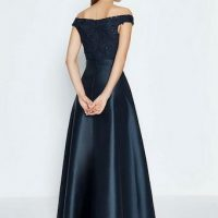 Coast 3D Embroidered Bodice Full Maxi Bridesmaid Dress Navy