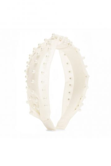Jon Richard Jewellery White Pearl Headband