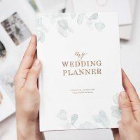 Luxury wedding planner book, engagement gift, wedding scrapbook organiser