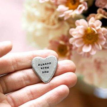 'Always With You' Pocket Heart Token