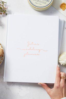 Personalised Copper Wedding Planner