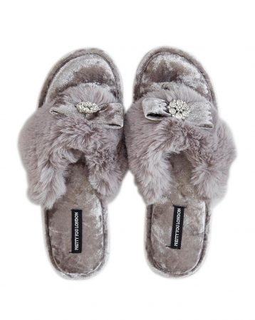 Pretty You London Amelie Toe Post Slippers Mink