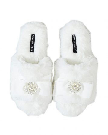 Pretty You London Anya Slider Slippers Cream