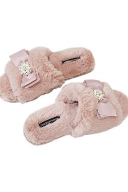 Pretty You London Anya Slider Slippers Pink