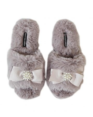 Pretty You London Anya Slider Slippers Mink