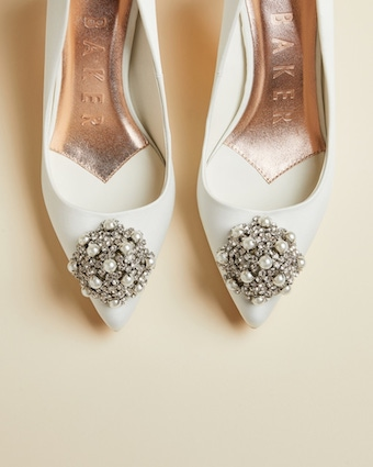 Ted Baker DARLILL Bridal brooch detail courts Ivory