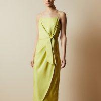 Ted Baker LAANI Knot detail drape dress Lime Green