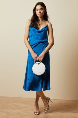 Ted Baker RANIAA Spotted cowl neck cami top Blue