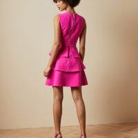 Ted Baker REINAH Tiered sleeveless dress Pink