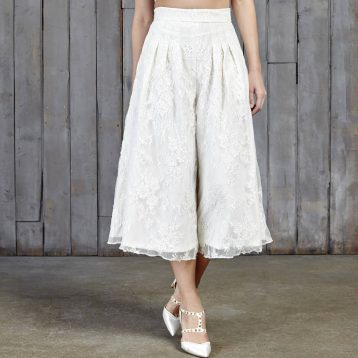 Drakeford Lace Bridal Culottes Ivory