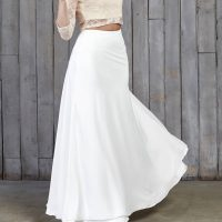 Hammond Bridal Maxi Skirt Ivory