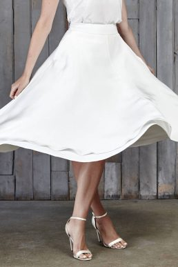 House Of Ollichon Thomas Bridal Midi Skirt Ivory