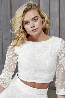 Le Fay Lace Bridal Top Ivory