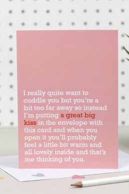 Great Big Kiss : Thinking Of You Card For Loved One