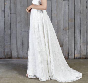 Stevenson Lace Boho Bridal Skirt Ivory