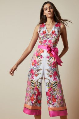 Ted Baker SOLANA Samba printed jumpsuit Pink Ivory