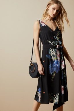 Ted Baker TRINNI Jamboree midi floral dress Black Multi