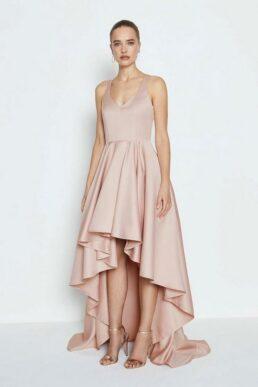 Coast Satin High Low Maxi Dress Blush Pale Pink