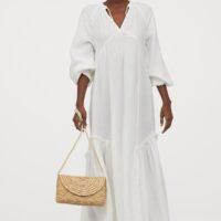 H&M Cotton kaftan dress Cream