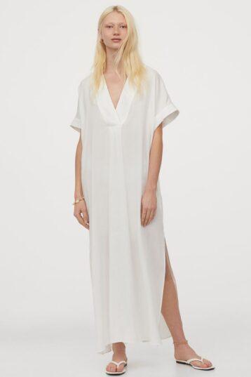 H&M Lyocell Kaftan White
