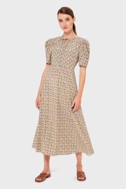 Hobbs Charlie Print A-Line Dress Ivory Multi