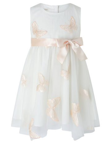 Monsoon Baby Molly Butterfly Dress Ivory