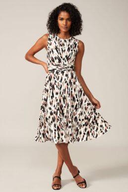 Phase Eight Layla Print Dress Multi White