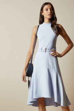 Ted Baker CORVALA Sleeveless midi dress Light Blue