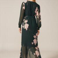 Phase Eight Kazumi Heritage Print Maxi Dress Green Pink Blush
