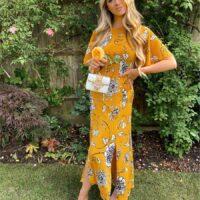 Chi Chi Nataley Floral Print Maxi Dress Yellow White